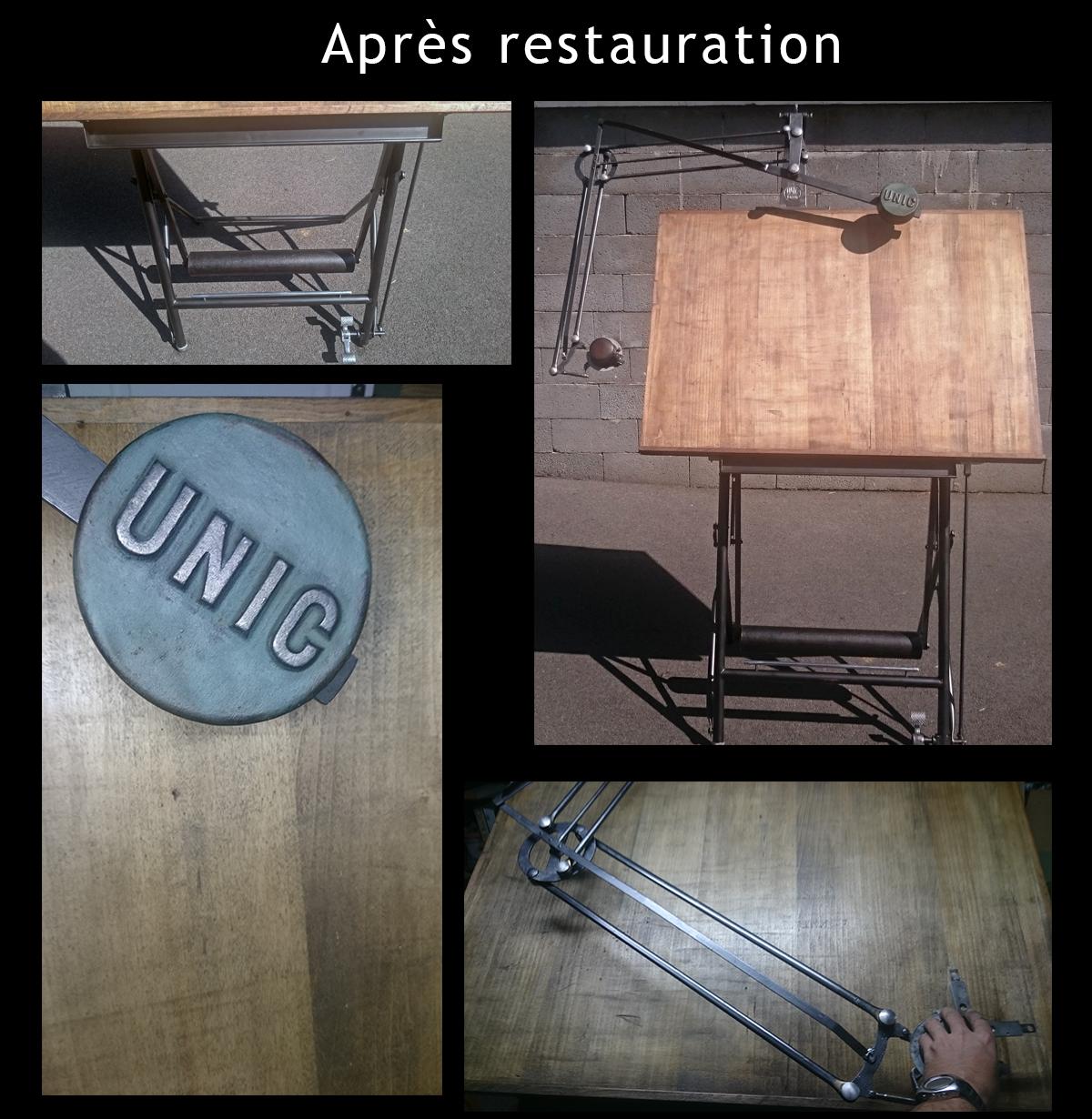 Table à dessin UNIC restauré